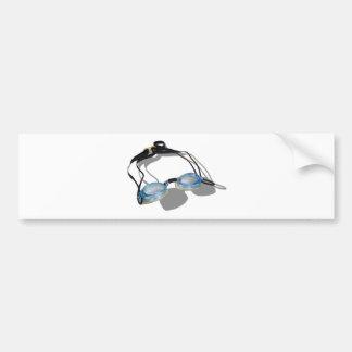 SwimmingGoggles091210 Bumper Sticker