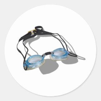 SwimmingGoggles091210 Classic Round Sticker