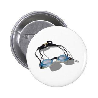 SwimmingGoggles091210 Pinback Buttons