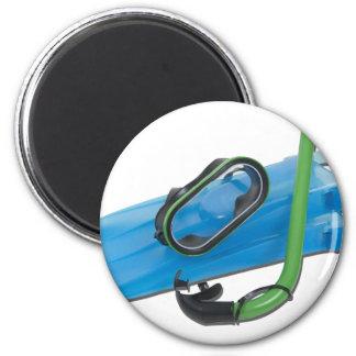 SwimmingGogglesSnorkelFins101311 2 Inch Round Magnet