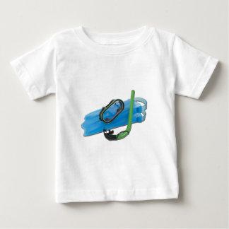 SwimmingGogglesSnorkelFins101311 Baby T-Shirt
