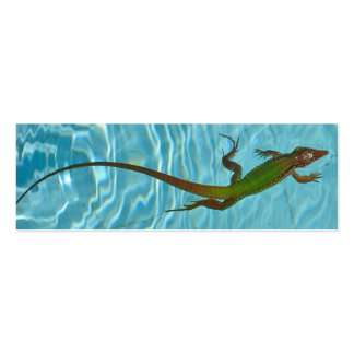 SwimmingLizard bookmarks Double-Sided Mini Business Cards (Pack Of 20)