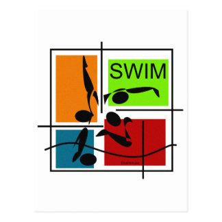 SwimQuartet Postales