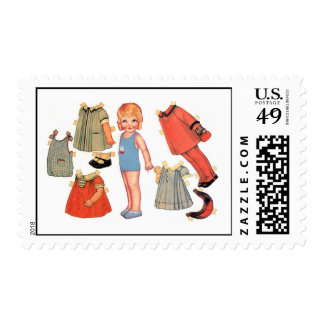 Swimsuit Paper Doll Postage