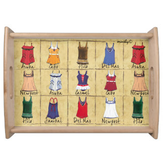 Swimsuit Tray Service Trays