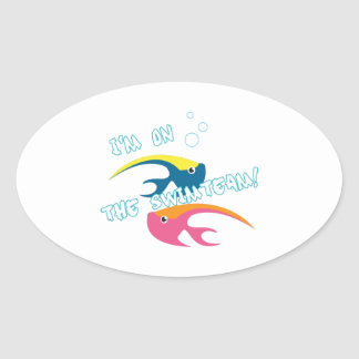 Swimteam Fish Oval Stickers