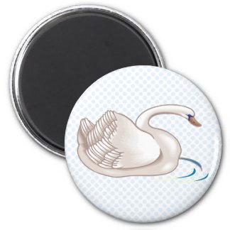 Swinda Swan 2 Inch Round Magnet