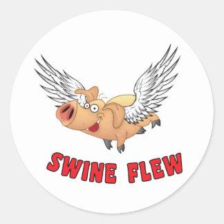 SWINE-FLEW.ai Pegatinas Redondas