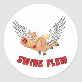 SWINE-FLEW.ai Pegatina Redonda