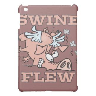 swine flew flying pig flu pun cartoon iPad mini case