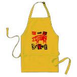 Swine Flu Apron surreal kitchen!
