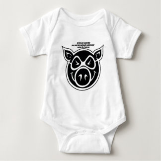 Swine Flu Baby Bodysuit