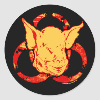 SWINE FLU - Beware The Pandemic! Stickers