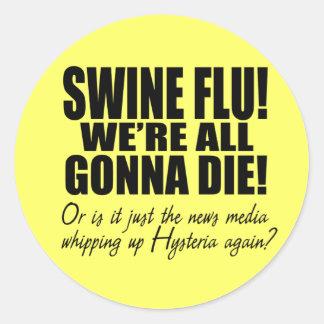 Swine Flu! Classic Round Sticker