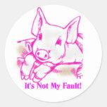 Swine Flu Classic Round Sticker