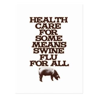 Swine Flu For All Postcard