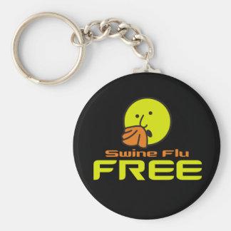 Swine Flu Free Keychain