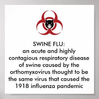 SWINE FLU H1N1 PANDEMIC POSTER