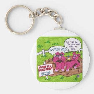 Swine Flu Hazard Keychain