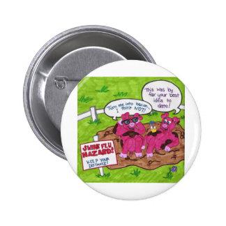 Swine Flu Hazard Pins