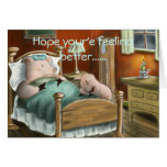 Swine Flu, Hope your'e feeling better...... Greeting Card