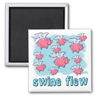 Swine Flu Humor Products 2 Inch Square Magnet