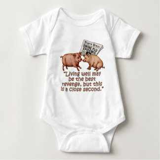 Swine Flu Humor Products Baby Bodysuit