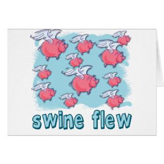 Swine Flu Humor Products Card