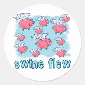 Swine Flu Humor Products Classic Round Sticker