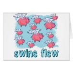 Swine Flu Humor Products Greeting Card