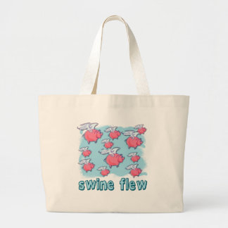 Swine Flu Humor Products Large Tote Bag