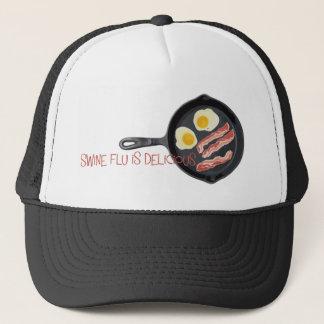 Swine Flu is Delicious Trucker Hat