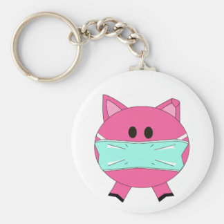 Swine Flu key chain