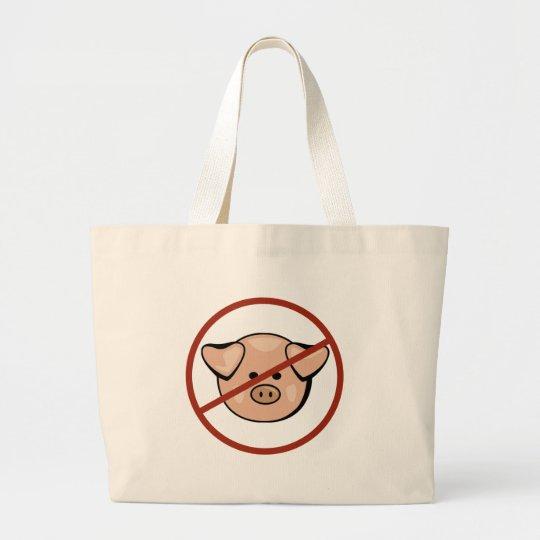 Swine Flu Large Tote Bag