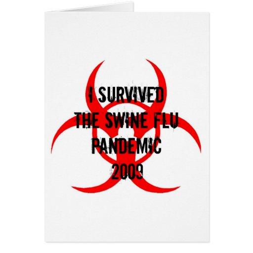 SWINE FLU PANDEMIC GREETING CARD