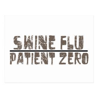 swine flu patient zero postcard