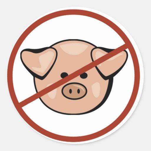 Swine Flu / Pork Classic Round Sticker