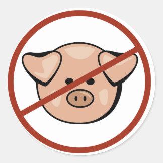 Swine Flu / Pork Round Stickers