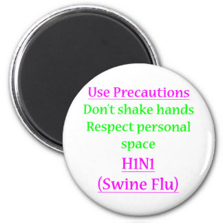 Swine Flu Precautions 2 Magnets