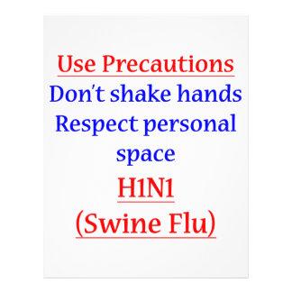 Swine Flu Precautions Flyer Design