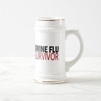 Swine Flu Survivor Beer Stein