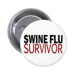 Swine Flu Survivor Button
