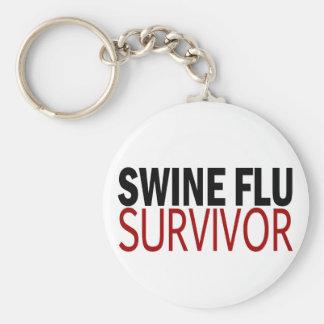 Swine Flu Survivor Keychain
