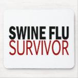 Swine Flu Survivor Mouse Pads