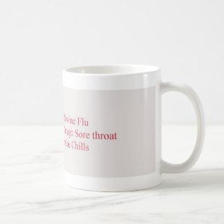 swine flu symptoms coffee mug
