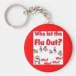 Swine Flu - Who let the FLU OUT? Who Who Who Who? Key Chain