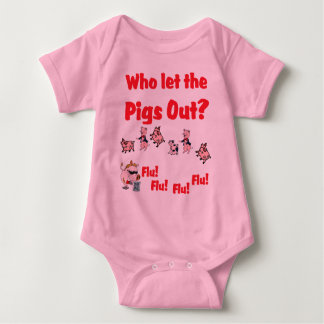 Swine Flu - Who let the PIGS OUT? Flu Flu Flu Flu T-shirt