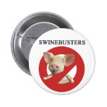 Swinebusters! Pinback Button