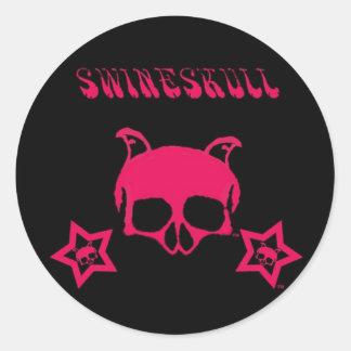 SwineSkull 20/per sheet Round Stickers