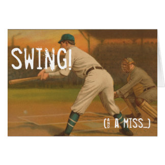 Swing! (& a miss...) greeting card